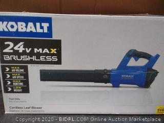 Kobalt 24v Max brushless cordless leaf blower(needs charger and battery)(untested)