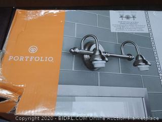 Portfolio 2Light Brushed Nickel Vanity Bar 0321908 848507000662