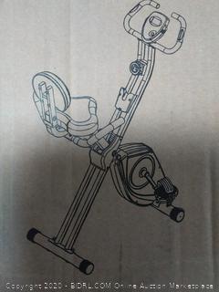 XTERRA Fitness FB350 Folding Exercise Bike, Silver(sports pallet#37)