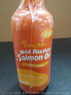 Zesty Paws, Wild Alaskan Salmon Oil for Dogs & Cats, Skin & Coat