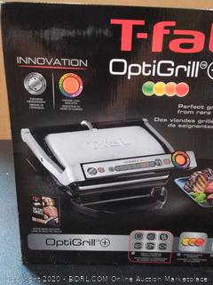 T-Fal OptiGrill Plus Stainless Steel Indoor Electric Grill (powers on)