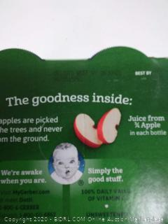 Gerber organic apple juice from concentrate