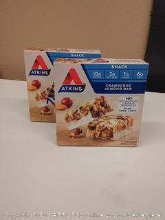 Atkins cranberry almond bar two boxes