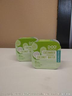 drinkfinity cucumber coconut water beverage infusion pods 2 pack