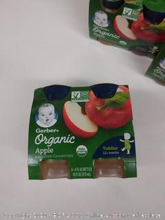 Gerber organic apple juice