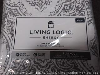 living logic energy back tab panel blackout curtain