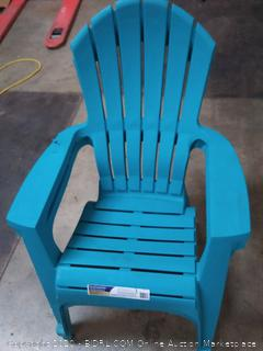 Big Easy Adirondack plastic chairs( split towards top insides) x 3 chairs