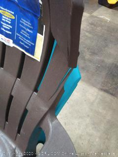 Big Easy Adirondack plastic chairs( split towards top insides) x 3 chairs