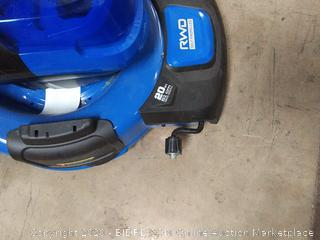 lawn mower parts (needs rewiring) (needs new wheel) (needs bag for waste)