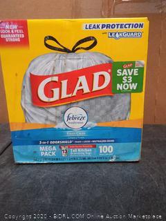 UPC 12587791257 Glad 100-Pack 13-Gallon Fresh Clean White
