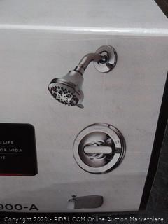 Delta Chrome 1-Handle Bathtub and Shower Faucet with Valve in