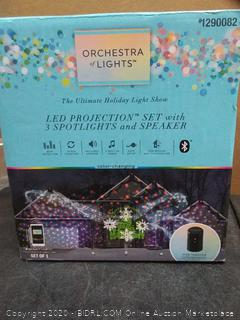 Orchestra of lights LED projection set with three spotlights and speaker