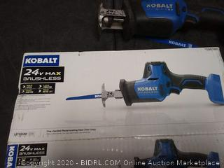 Kobalt 24-V Max Variable Speed Brushless Cordless Reciprocating((untested)(used)(needs battery and charger)