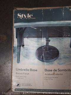 Style Selections Umbrella Base Brown Finish