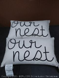 our nest set of 2 throw pillows buy curated collections
