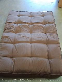 Brown futon mattress