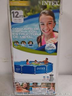 "Intex 12' x 30"" Metal Frame Pool with Filter Pump (online $156)"