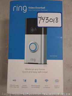 Ring Wireless Video Doorbell, Smart Phone Wifi, Security Door (online $99)