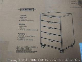 Halifax Cabinet for Closet / Office, 5 Drawers, White (online $96)