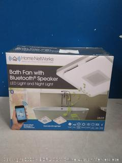 Home NetWerks 110 CFM Square LED BT Bath Fan 7130-13-BT with Bluetooth (online $159)
