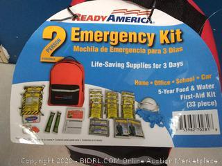 READY AMERICA Grab'n Go 2 Person Emergency Kit First Aid