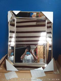 Home Design Beveled Wall Mirror Display Product (cracked)