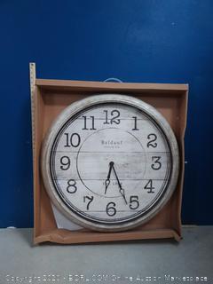 Baldauf Clock Co. Analog Round Indoor Wall Clock (online $98)