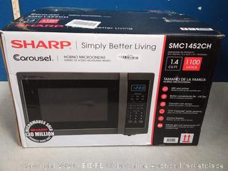 Sharp 1.4-cu ft 1100 Countertop Microwave (Black Stainless Steel (online $149)