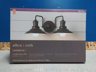 Allen+roth Hansbrook 2 Light Vanity (No Bulbs)