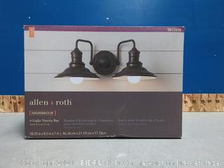 Allen+roth Hansbrook 2 Light Vanity (No Bulbs) (Small Dent)