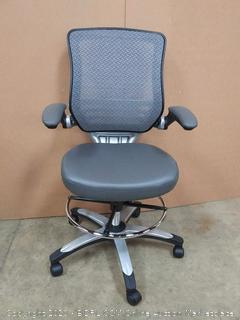 Modway Edge Drafting Stool Office Chair -Gray