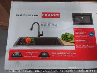 Franke Primo 33-in x 22-in Shadow Grey Single Bowl Drop-In or Undermount Commercial/Residential Kitchen Sink (online $299)