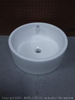 Swiss Madison Monaco Round Ceramic Bathroom Vessel Sink (online $75)