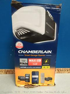1-1/4 HP Equivalent Durable Chain Drive Smart Garage Door Opener with Battery Backup (online $248)