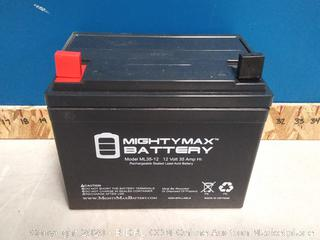 Mighty Max Deep Cycle AGM Solar Battery (online $63)