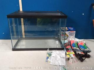 Tetra 20 Gallon Complete Aquarium Kit w/ filter heater LED & plants (online $129)