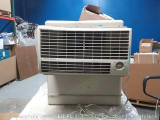 Essick Air 600-sq ft Window Evaporative Cooler (2800-CFM)(powers on/dented) online $399 - Please preview - looks new inside