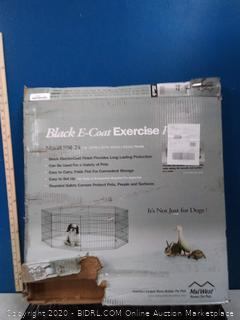 Midwest black e-coat exercise pen