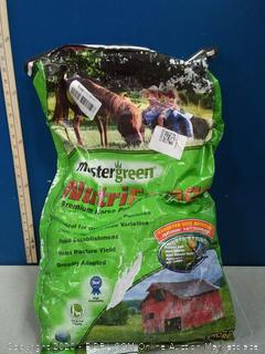 Master green premium horse pasture seed mix (online $57)