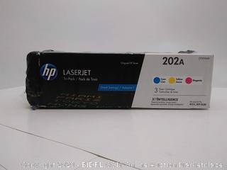 HP 202A Cyan, Magenta, Yellow Toner Cartridges, Standard Yield, 3/Pack (Online $206)