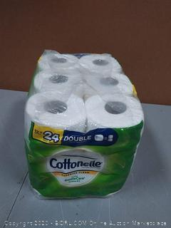 Cottonelle Superior clean Ultra Gentle Care with aloe toilet paper 12 double rolls