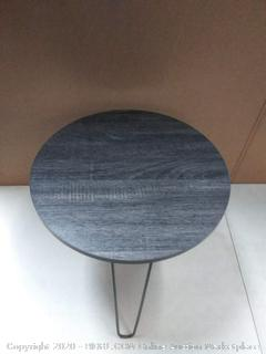 end table with without tray rustic black