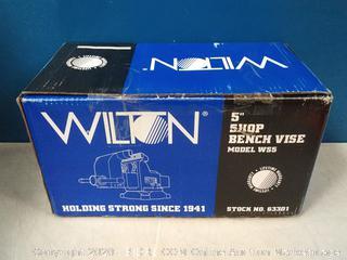 Wilton Model WS5 Jaw Width 5-Inch Throat Depth 3-Inch Shop Vise (online $127)
