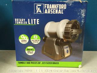 Frankford Arsenal Platinum Series Rotary Tumbler Lite with Clear Viewing Window and Leakproof Seal for Cleaning and Polishing During Reloading (online $89)