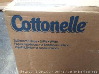 Cottonelle bathroom tissue to play 60 rolls