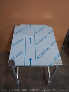 VIFS 1st stainless steel top I-frame work table 24 inches x 30 inches x 34 inches