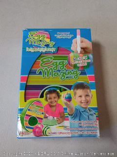 eggmazing egg decorator has six colorful non-toxic markers