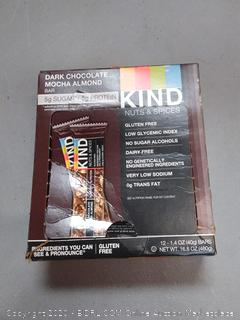 kind nuts and spices dark chocolate mocha almond bar 12 per pack