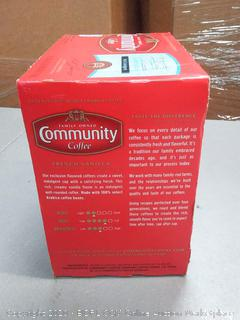 family-owned Community Coffee French vanilla 18 cups