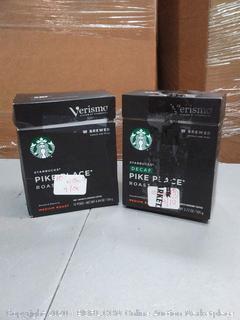 Starbucks Verismo Pike's Place roast medium roast 12 pods X2